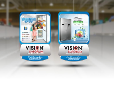 Reffrigerator Dangler advertisment advertise advertisement advertising branding