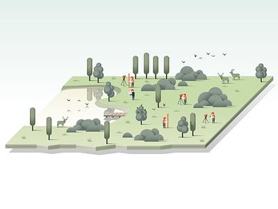 A Stab V2 landscape isometric illustration vector