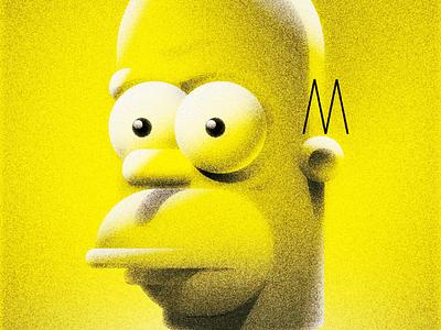 Homer simpsons homer grain illustration vector