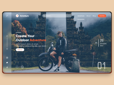 Adventure website ui trendy design ui ux 2020 trend journey map booking trip explore bike tours adventure tour travel website web design web website travel journey adventures discover tour adventure