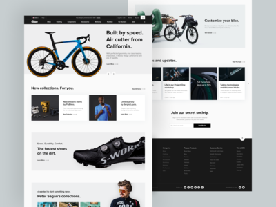 Chain Reaction Cycles - Redesign Concept / Main Page