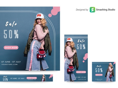 Free Fashion Web Banner Set