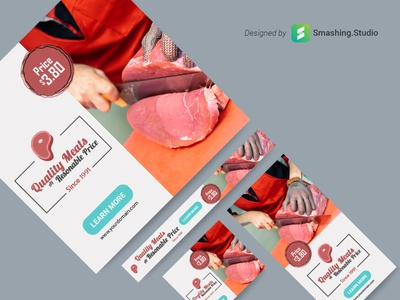 Free Food Shop Web Banner Set