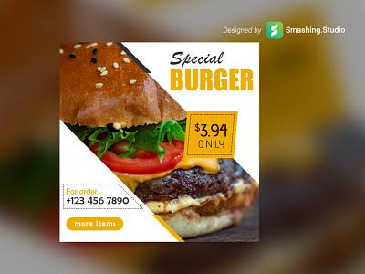 Free Burger Shop Web Banner Set download psd download set banner web online shop free