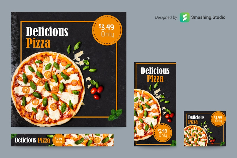 Free Pizza Shop Web Ads Banner Set