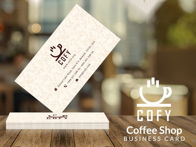 Cofy - Coffee Shop Business Card carte de visite biglietto da visita tarjeta de visita cafeteria caffetteria kahvila capulus tabernam koffie caffè café shop coffee