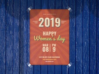 Women's Day Flyer Retro Print Ready