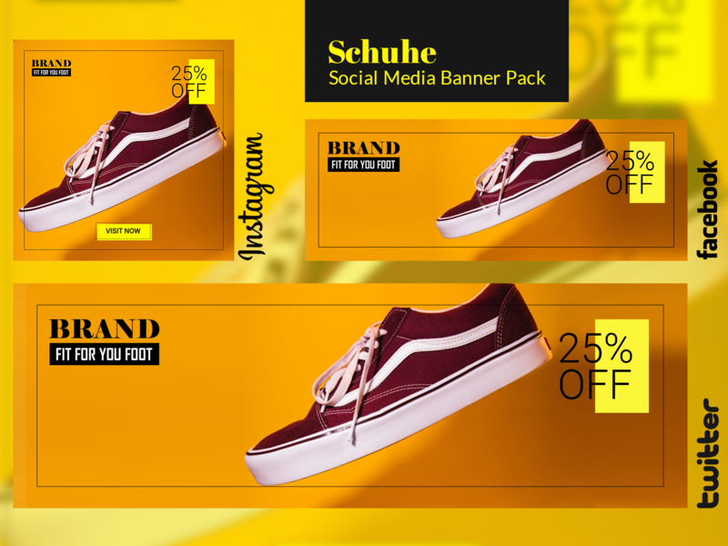 Free Social Media Banner Pack - Schuhe twitter facebook instagram shoes freebe freebee banner ad banner social media free