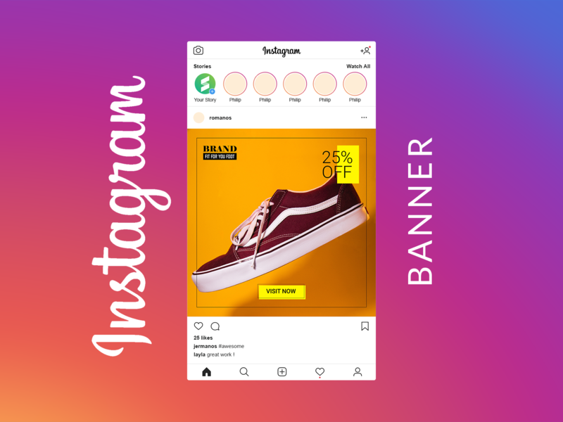 Free Social Media Banner Pack - Schuhe templates template media social post pixelbuddha modern marketing instagram freebie free fashion banner