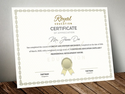 Certificate Template - Traditional