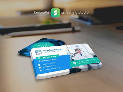 EM- FREE BUSINESS CARD MOCKUP rounded corners prespective freebie psychotherapist free businesscard mockup psd