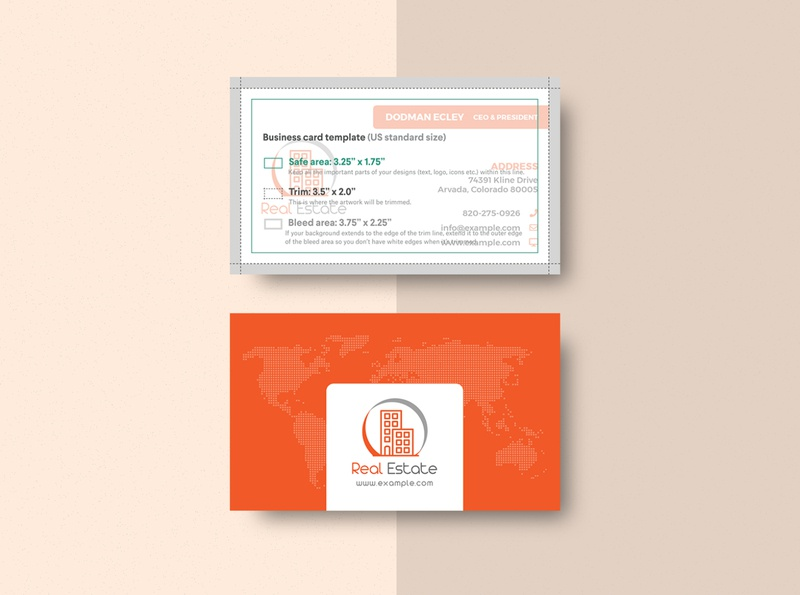 Real Estate Business Card & Mock-up