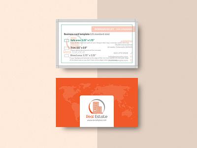 Real Estate Business Card & Mock-up mock-up card real estate