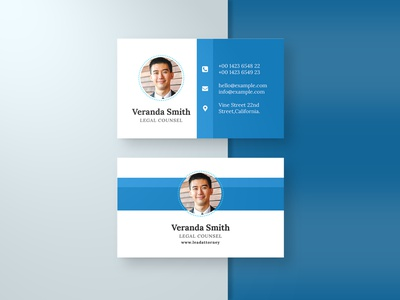 Corporate Business card Template & Mock-up card business card blue mock-up template businesscard