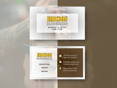 Barbershop Business card & Mock-up