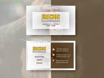 Barbershop Business card & Mock-up barber business card barbershop businesscard template mockup