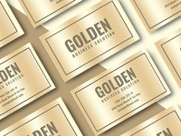Business Card and Mockup-Golden