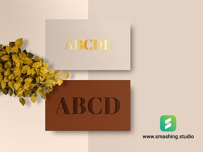 Free Business Card Mock-up modern minimal design elegant card businesscard template freebie mockup free
