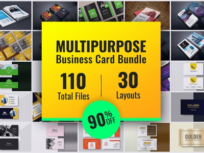 30 Multipurpose Business Card Bundle businesscard discount off high low bundle business card