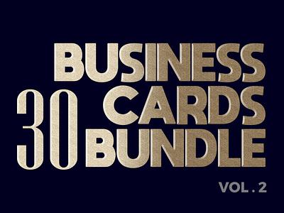 30 Business Card Bundle Vol.2 discount bundle design modern card businesscard