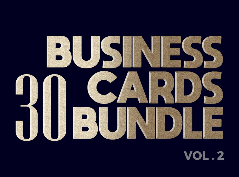30 Business Card Bundle Vol.2