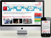 Fujitsu Responsive Blog Design