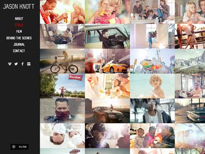Photography website design website photography grid