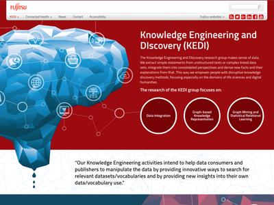 Fujitsu Ireland Research Microsite design web
