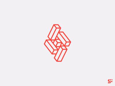 Logo-a-day // 03 abstract logo geometric art symbol logo concept logo design logo for sale logo branding brand identity
