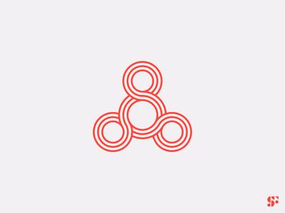 Logo-a-day // 09 figure eight minimalist logo logo for sale logo design branding logo concept geometric logo branding brand identity logo design abstract logo abstract design symbol logo