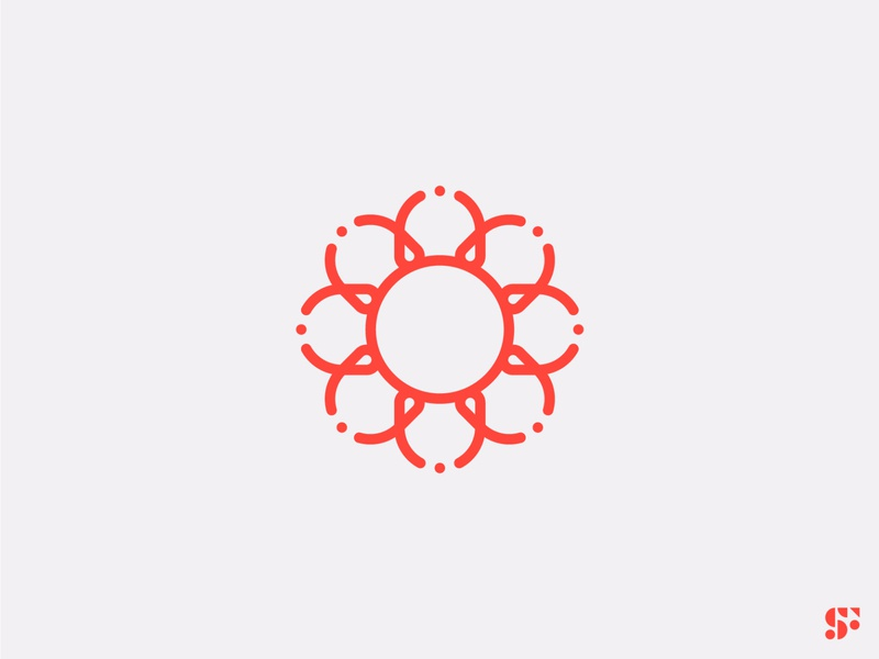 Logo-a-day // 13 flower plant startup logo modern logo minimalist logo minimal logo concept logo design geometric logo icon design branding symbol logo
