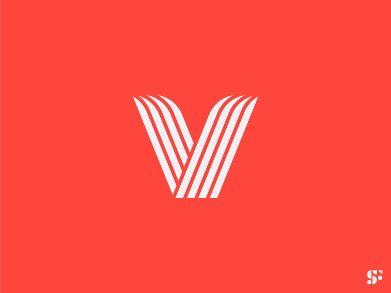 Logo-a-day // 14 lettermark modern logo minimalist logo minimal v logo typographic logo letter logo geometric logo startup logo logo design icon design branding symbol logo