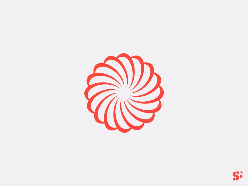 Logo-a-day // 15 geometric logo icon logo design startup logo optical minimalist modern logo minimalist logo circular logo spiral abstract logo design branding symbol logo