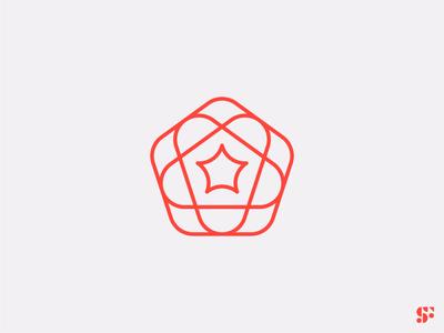 Logo-a-day // 19 logo designer floral pentagon logo for sale logomark geometric logo startup logo icon logo design modern logo minimalism minimalist logo abstract logo design branding symbol logo