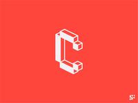 Logo-a-day // 24 icon logo for sale startup logo modern logo minimalist logo minimal cube 3d c letter c logo logo design monogram lettermark typography logo typographic logo branding symbol logo