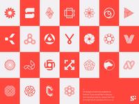 Logo-a-day // Collection monogram abstract logo logo for sale startup logo typographic logo letter logos lettermark geometric modern logo minimalist logo minimal icon branding design logo designer logo design logomark design branding symbol logo