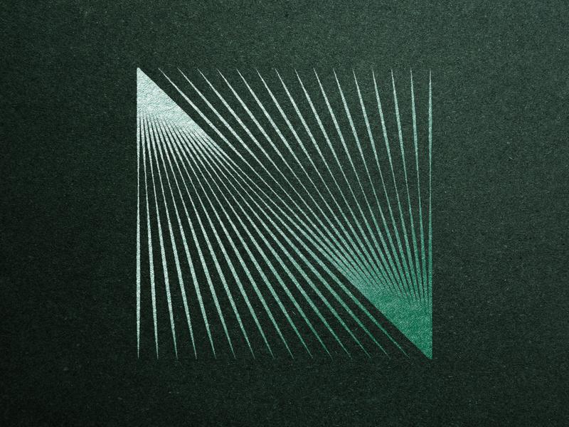 Foil Series // 10 experimental creative design texture paper foil stamp foil print print design visual art optical art shapes geometric design geometric art geometry icon vector branding abstract geometric symbol logo