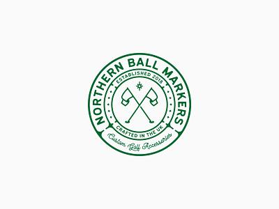 NBM // Logo logo concept vintage sport golf stamp crest emblem badge logo designer logo design brand design branding identity brand symbol logo