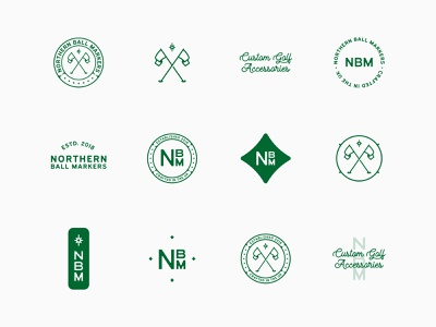 NBM // Brand Toolkit logotype emblems golf logo designer brand designer brand design craft vintage logo design badge design badges toolkit icon branding identity brand symbol logo