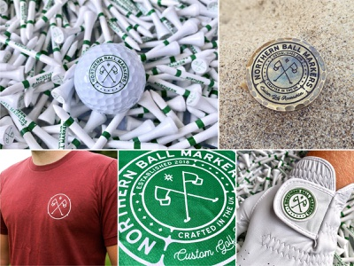 NBM // Application emblem badges print design products t shirt golf logo golf ball sports golf graphic design logo designer logo design brand application brand designer branding identity brand symbol logo
