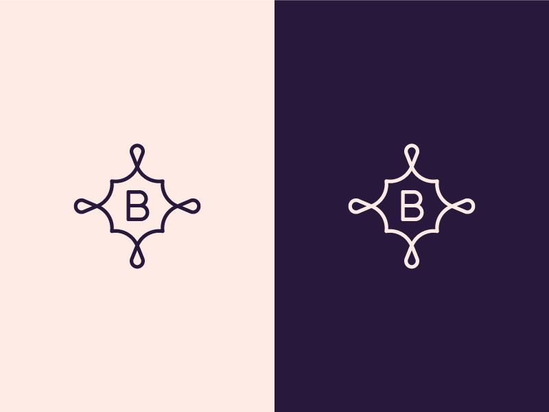 Beauty B (2) b letter beauty pattern logo floral flower luxury brand identity
