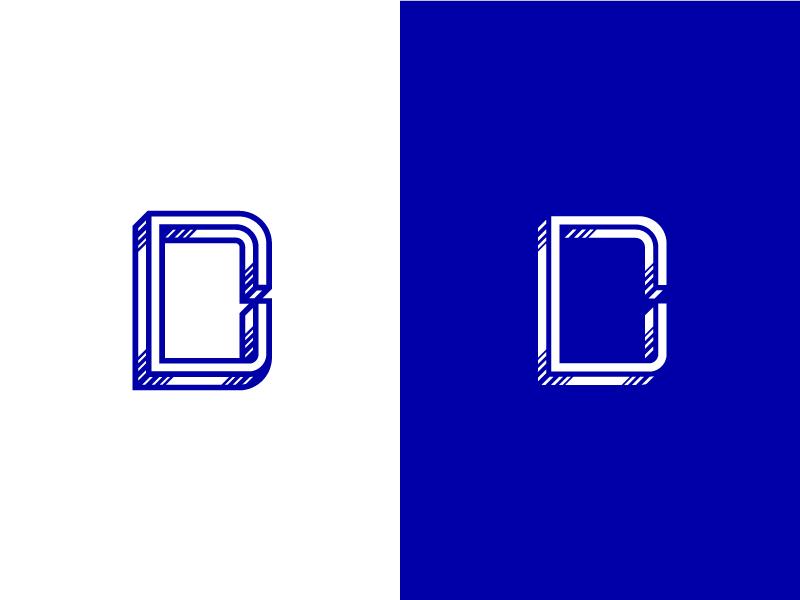 DC typography letters 3d shadow identity brand logomark logo symbol monogram c d