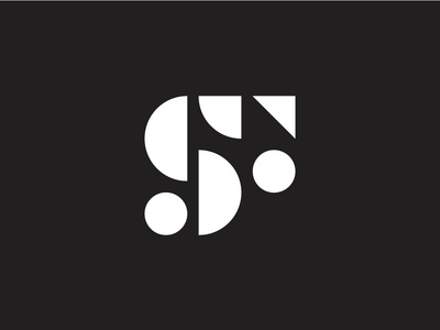 SF monogram f type s typography lettering geometric symbol mark identity brand logo