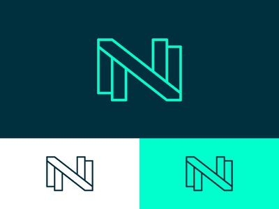 NN Monogram design direction mark abstract symbol logo ambigram monogram letter n