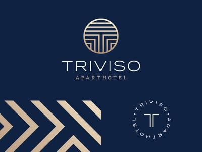 Triviso // Brand Elements foil logo typography t symbol abstract geometric circle brand luxury design print