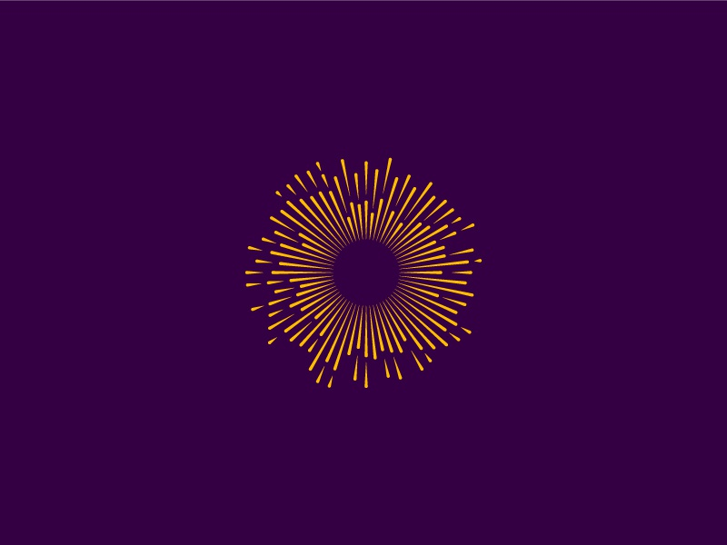 Sun's Out radial sunburst sun abstract geometric symbol design brand logo