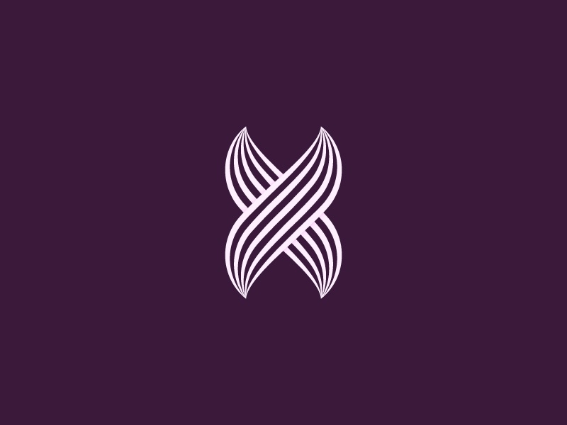 X optical letter x logo mark type typography symbol abstract brand luxury design
