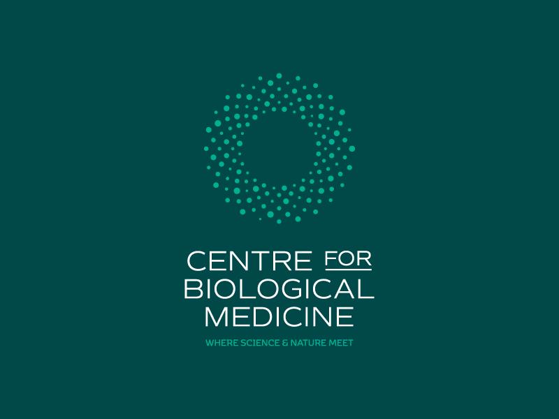 CfBM // 01 circular optical core logo brand design symbol geometric abstract biology health medical