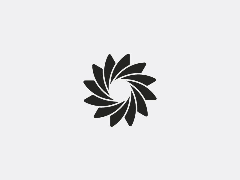 Fusion digital rotate abstract geometric logo symbol branding logo design spiral