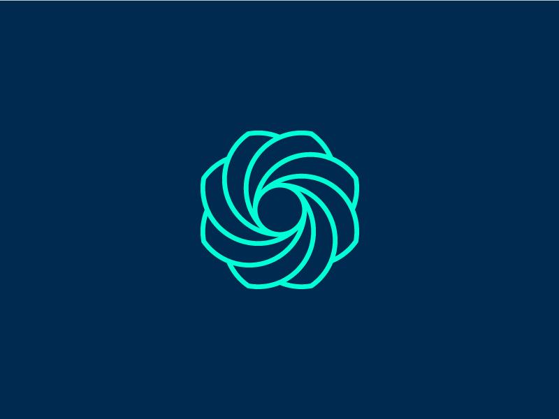 Fusion II spiral logo design branding logo symbol geometric abstract rotate digital
